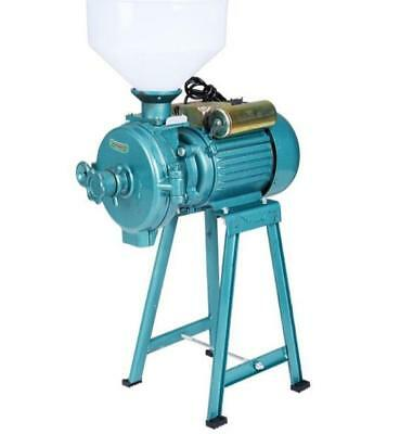 220V Corn Grain Rice Wheat Wet Dry Grinder Animal Poultry Feed Mill Electric-New