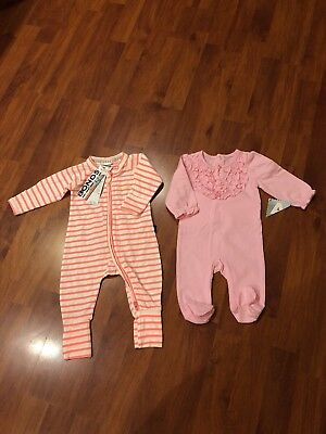 2 x Sets Of Girls Bobysuit Winter Bonds Size 000 or 0-3months BNWT