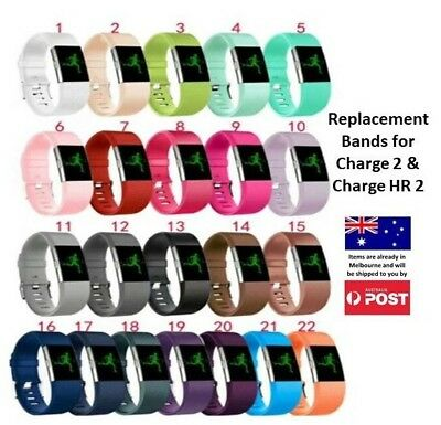 New Replacement Silicone Wrist Band for Fitbit Charge 2 / Charge HR 2