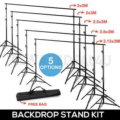 Adjustable Heavy Duty Photo Studio Backdrop Support Background Stand Kit w/ Case