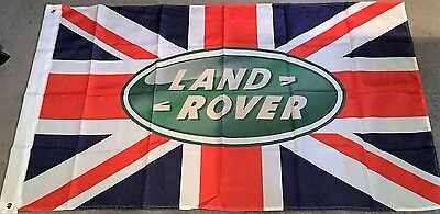 LAND ROVER FLAG UNION JACK HUGE Classic car show, Man Cave, Garage, Shed