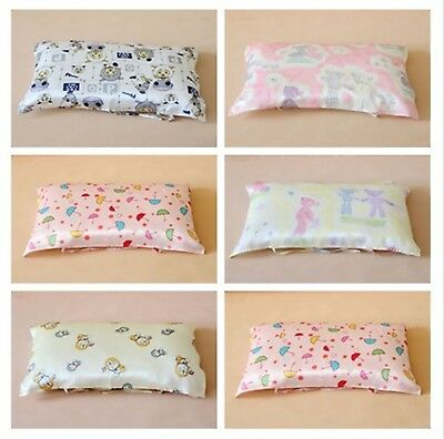 Kids100% Real Silk Floral  Mulberry Bed Pillow Towel Tie Pillow Case 30x50CM