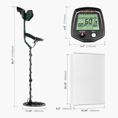 Profession Underground Metal Detector GF2 Treasure Hunter Gold Digger Detector R