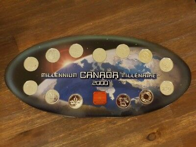 CANADA - MILLENNIUM Second Series of Coins - Stunning Coin Set