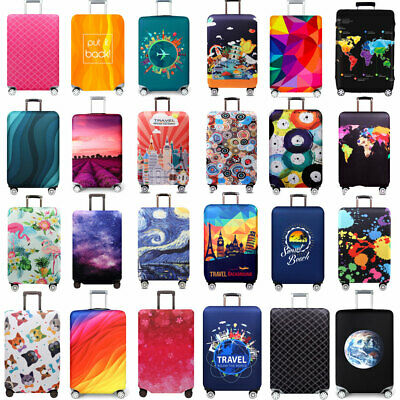"""Spandex Luggage Skin Cover 4 Sizes Protective Thick Suitcase Dust Cover 18 ~ 32"""""""