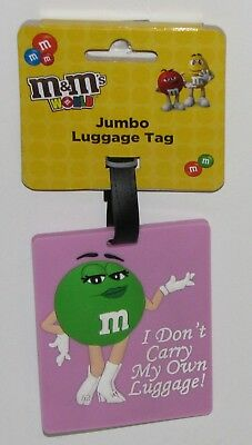 """M&M's World Green Character Jumbo Luggage Tag (""""I Don't Carry My Own Luggage!"""")"""