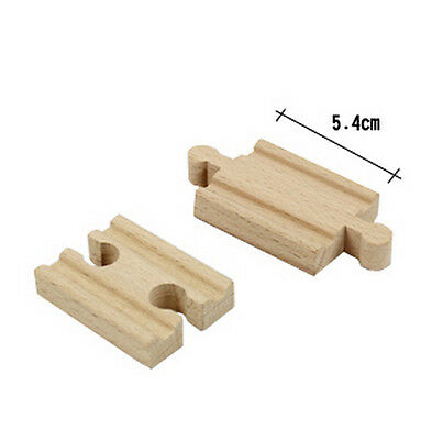 Wooden Train Track Pack Engine Tank Railway Accessories Compatible Major Brand-
