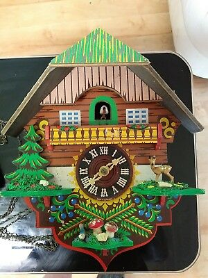 Vintage Cuckoo Clock - Made in Germany - Not working, spares or repairs