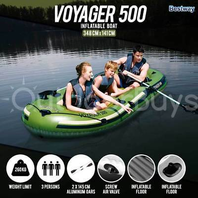 Inflatable Fishing Boat Dinghy Raft | Bestway Voyager 500 3.48M x 1.42M