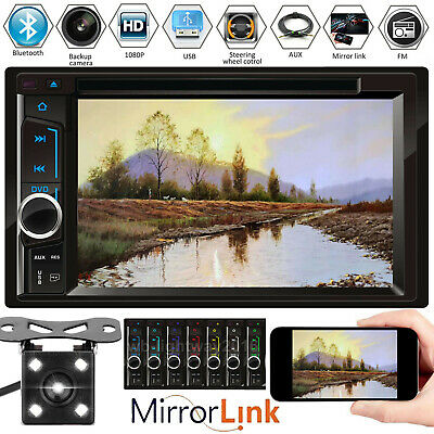 For Nissan Navara D40 6.2'' Double 2Din Car Stereo CD DVD Radio & Rearview Cam