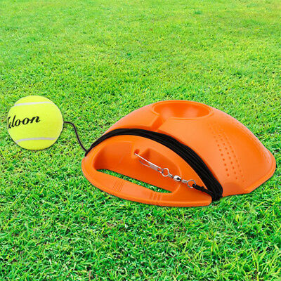 Outdoor Tennis Ball Singles Training Practice Drills Back Base Trainer SP