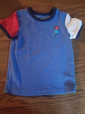 Cat And Jack French Terry Fire Cracker Shirt Size 5t