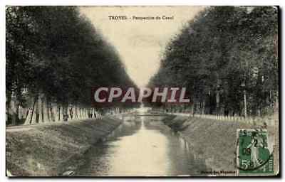 CPA Troyes Perspective du Canal