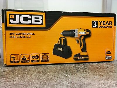 .JCB JCB-CD20LI2.2 20V Combi Drill w/ 2x 1.5Ah Li-ion Batteries *NEW & SEALED*