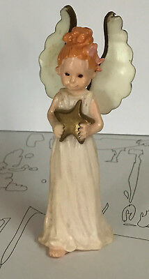 Hallmark 1974 Christmas Merry Miniature::RARE:: Angel Girl Tall Wings Holds Star