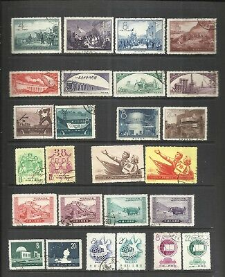 CHINA-CHINE:1950's LOT OF  10  USED COMPLETE SETS . ORIGINAL &  GENUINE