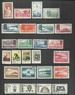 CHINA-CHINE:1950's LOT OF  6  USED COMPLETE SETS . ORIGINAL &  GENUINE