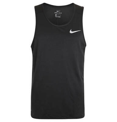 Nike Dri-Fit Mens Tank Top Active Wear NWT Dry Fit Training Shirt BLACK