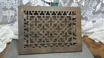 Vintage Cast Iron Louvered Air Grate Register Vent