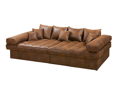 Niri Big Sofa Braun Mega Sofa Lounge Riesensofa Xxl Microvelours