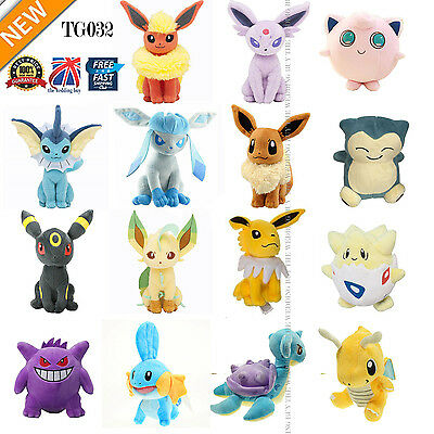 "7"" /18cm Pokemon Evolution Of Eevee Plush Kids Toys Doll Eeveelution TG032 22pcs"