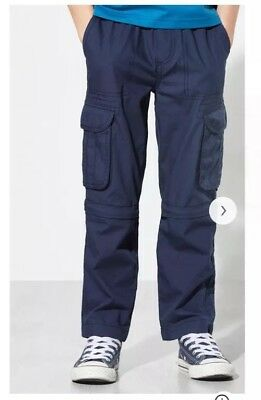Boy's Zip Off Combat Trousers / Shorts Navy John Lewis Age 4 Years BNWT RRP £16