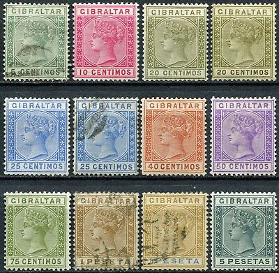 Gibraltar 1889 issue, between SG 22 & 33, Mint Hinged & Used, CV £195
