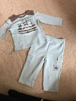 Juicy Couture Boys 2 Piece Outfit Age 3-6 Months