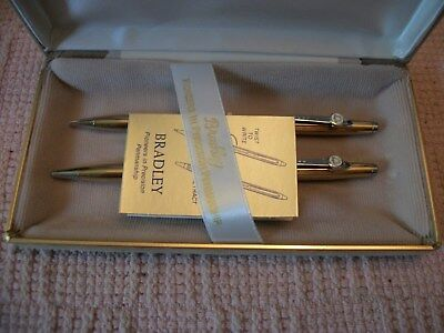VINTAGE BELL TELEPHONE PEN and PENCIL GIFT SET-BRADLEY-NEW in BOX