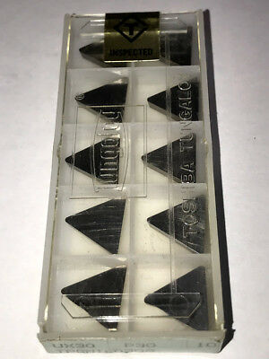 10 pcs NEW, UNOPENED TUNGALOY CARBIDE INSERTS TPGN322 UX30