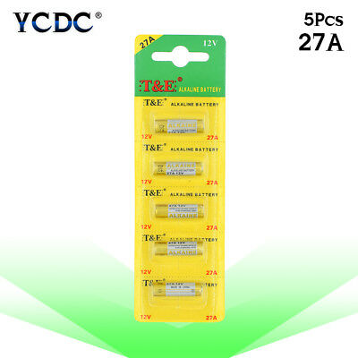 5 Pcs/Pack 12V Alkaline Batteries 27A V27GA EL812 For Remote Control Car Key E1