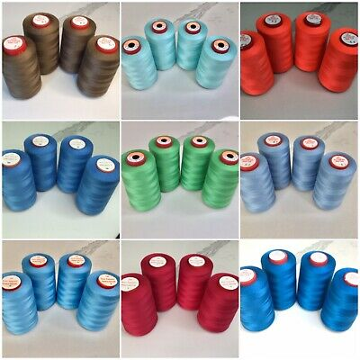5000 Yard Overlocking Sewing Machine Thread Clearance 4 Threads All Colours