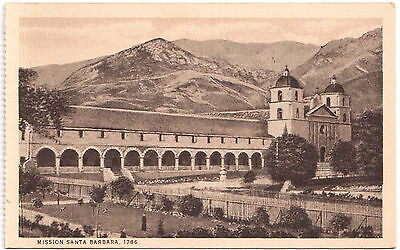 AK US USA Post Card Mission Santa Babara 1786 ungelaufen