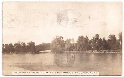 AK US USA Post Card Bow River from 12 TH. ST. East Bridge CALGARY gelaufen 1914