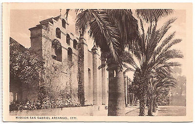 AK US USA Post Card Mission San Gabriel Arcangel 1771 ungelaufen