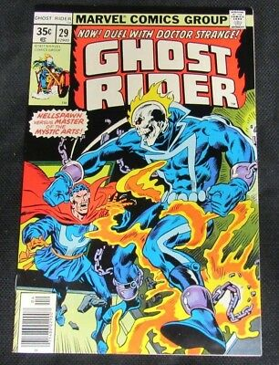 Ghost Rider #29 (1977) Bronze Age Doctor Strange Appears NM 9.4-9.6 CO738