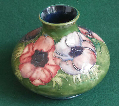 Moorcroft Pottery Signed Squat Vase