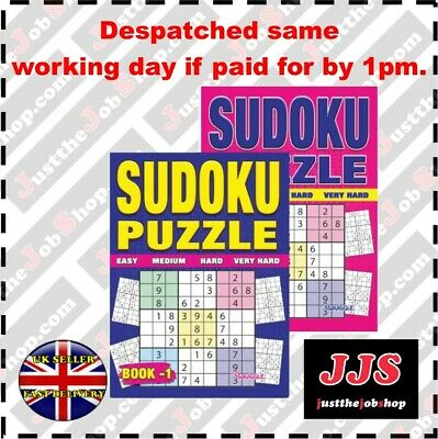 2 X Large Print Sudoku Puzzle Books Books 1&2 Puzzles A4 Pages Fun Trivia Uk
