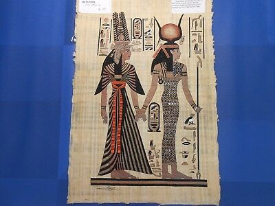 Egyptian Papyrus Paper Pharonic Art Royal Temples Tombs, Artist signed OCT17005