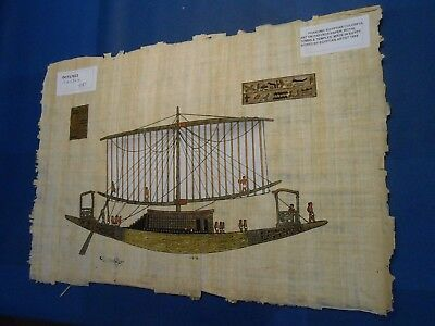 Egyptian Papyrus Paper Pharonic Art Royal Temples Tombs, Artist signed OCT17022