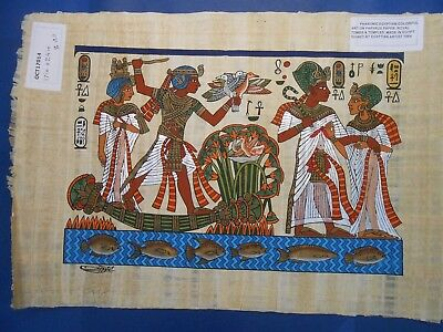 Egyptian Papyrus Paper Pharonic Art Royal Temples Tombs, Artist signed OCT17014
