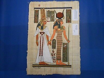 Egyptian Papyrus Paper Pharonic Art Royal Temples Tombs, Artist signed OCT17023