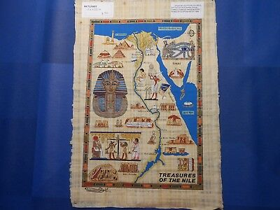 Egyptian Papyrus Paper Pharonic Art Royal Temples Tombs, Artist signed OCT17002