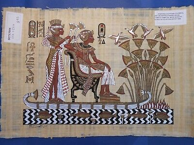 Egyptian Papyrus Paper Pharonic Art Royal Temples Tombs, Artist signed OCT17004