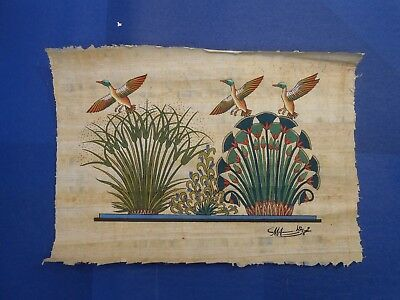 Egyptian Papyrus Paper Pharonic Art Royal Temples Tombs, Artist signed OCT17037