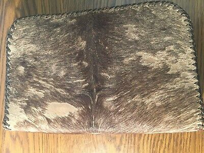 Authentic Cowhide Hair Book or Bible cover with zipper closure
