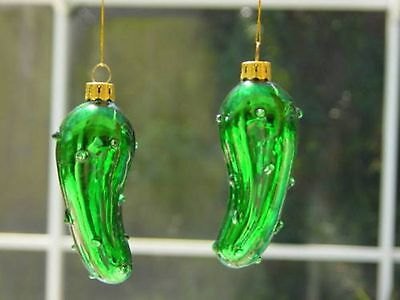 3 GLASS PICKLE ORNAMENTS W/LEGEND CARDS Brand New LOT BRAND NEW UNIQUE