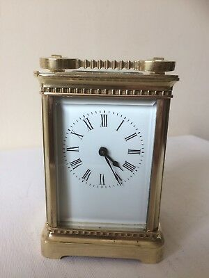 A Rare Antique French Carriage Clock With Fancy Case Working Order