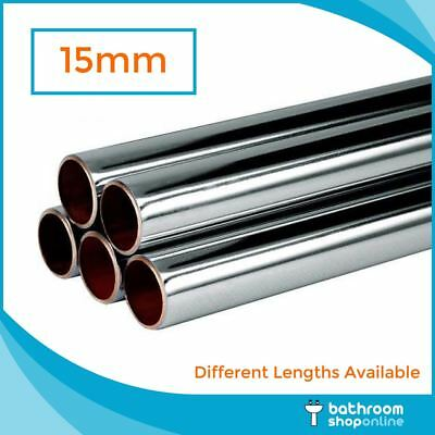 15mm Chrome Plated Copper Pipe/Tube/Piping Different Lengths Available