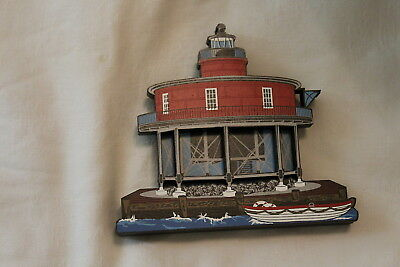 LOT 4 NEW Shelia Collectibles 2000 Seven Foot Knoll Lighthouse Baltimore MD